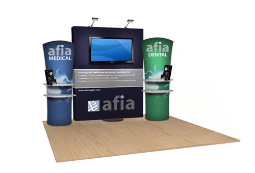 Trade Show Display Tv Stands Waveline Displays Trade